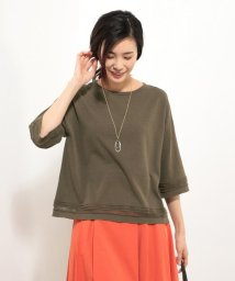 J.PRESS LADIES(LARGE SIZE)/レーシーCOリネン ニット/500920947