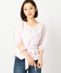 MISCH MASCH/ウエストリボンストライプシャツ/500653685