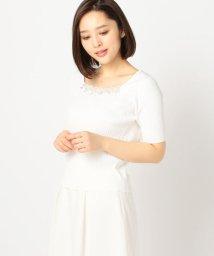 MISCH MASCH/チュールスカラップ花刺繍ニット/500845380