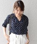 SHIPS WOMEN/【手洗い可能】ドットフリルブラウス5分袖◇/500920982