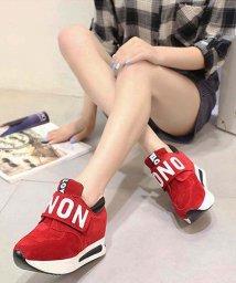 miniministore/マジックテープ スニーカー レディース 厚底 ランニング シューズ 歩きやすい靴/500922617