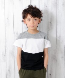 GLAZOS/3カラー切り替え半袖Tシャツ/500922671