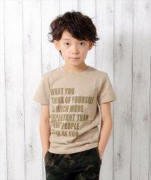 GLAZOS/メッセージロゴ半袖Tシャツ/500922680