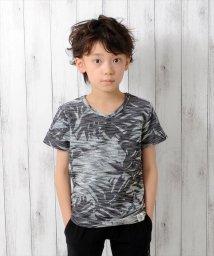 GLAZOS/リーフプリント・柔らか半袖Tシャツ/500922684