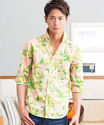 CavariA/CavariA【キャバリア】ボタニカル柄レギュラーカラー七分袖シャツ/500922974
