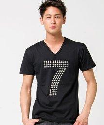 CavariA/CavariA【キャバリア】星型スタッズ付きVネック半袖Tシャツ/500922980