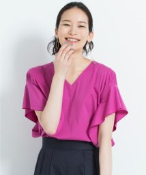 JIYU-KU /【亜希さん着用】プラチナスムース ラッフル袖プルオーバー(検索番号H45)/500923212