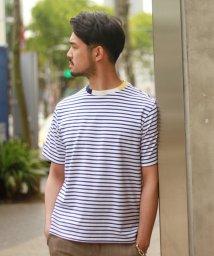 EDIFICE/WKED /ウィークエンド/ ネックドッキングボーダーTシャツ/500924152