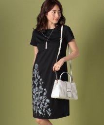 Leilian/【eclat6月号掲載商品】フラワー刺繍ワンピース/500910487