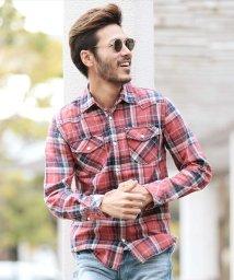 JIGGYS SHOP/インディゴ チェック ウエスタンシャツ / シャツ メンズ チェックシャツ ネルシャツ/500850443