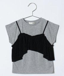 b-ROOM/変形キャミレイヤード風Tシャツ/500912453