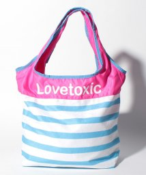 Lovetoxic/ボーダーパイル切り替えロゴ入りバッグ/500912462