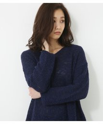 AZUL by moussy/透かし編みVネックTOPS/500913032