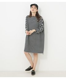 AZUL by moussy/ボーダーCUTオーバーワンピ/500913042