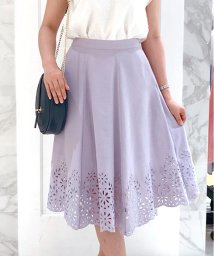Noela/【セットアップ対応商品】カットワーク刺繍フレアスカート/500922779