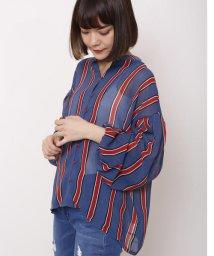 DOUBLE NAME/マルチストライプスキッパーシャツ(無地/ストライプ)/500925723