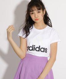PINK-latte/adidas ビッグロゴTシャツ/500926384
