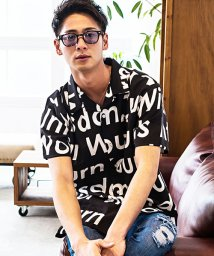 CavariA/CavariA【キャバリア】ロゴプリントオープンカラー半袖シャツ/500927704