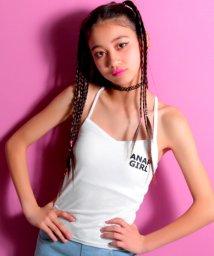 ANAP GiRL/胸ロゴパッド付キャミソール/500922085