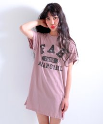 ANAP GiRL/カスレカレッジロゴTシャツワンピース/500922086