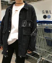 miniministore/デニム ジャケット ジージャン アウター ダメージ加工 韓国風 刺繍 カジュアル 体型カバー/500927589