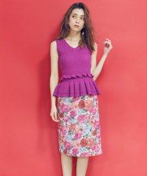 MIIA/【セットアップ対応商品】フラワープリントタイトスカート/500927976
