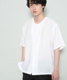 JUNRed/ソフトドレープノーカラーシャツ/500928537