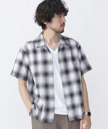 nano・universe///開襟オンブレーチェックシャツS/S/500929454