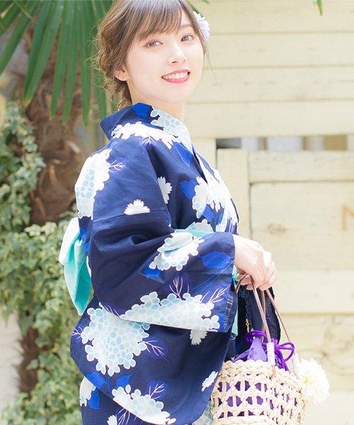 Dita(ディータ)/Dita【ディータ】1人で簡単に着られる作り帯の可愛い女性浴衣 4点フルセット(ゆかた・作り帯・下駄・着付けカタログ)/dl-2017yukata-1