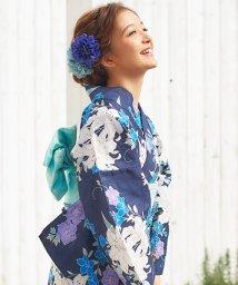 Dita/Dita【ディータ】1人で簡単に着られる作り帯の可愛い女性浴衣 4点フルセット(ゆかた・作り帯・下駄・着付けカタログ)/500934328