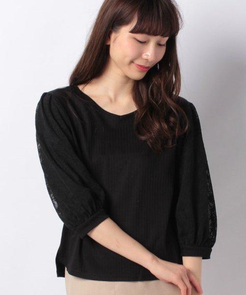 B donna(ビドンナ)/フラワーチュールシャツ/6082203