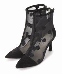 JOINT WORKS/G.V.G.V flocked mesh ankle boots/500936542