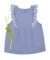 BENETTON (UNITED COLORS OF BENETTON GIRLS)/KIDSシャンブレー刺繍ノースリーブブラウス・シャツ/500909545