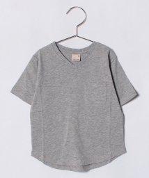 petit main/胸ポケットつきVネックTシャツ/500919643