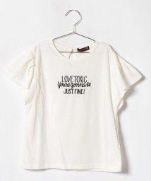 Lovetoxic/フリル袖ロゴTシャツ/500919667