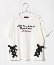 Lovetoxic/レースアップデザインTシャツ/500919673