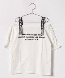 Lovetoxic/ロゴテープオフショルダーTシャツ/500919674