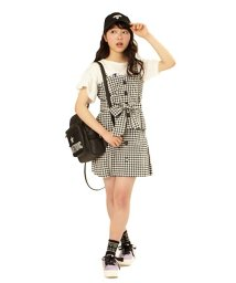 Lovetoxic/【ニコラ5月号掲載】リボンベルトつきビスチェ×台形スカートセット/500919687