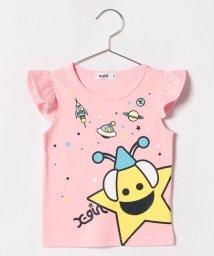 X-girl Stages/キラッキー&スペースフリルTシャツ/500919707