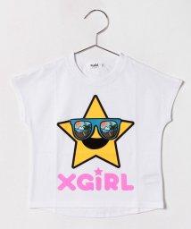 X-girl Stages/キラッキー&サングラスフレンチスリーブTシャツ/500919708