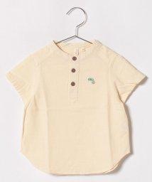 LAGOM/半袖スタンドカラーシャツ/500920295