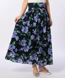 NOLLEY'S/【BAILA5月号掲載】カットジャガードボタニカルプリントスカート/500924188