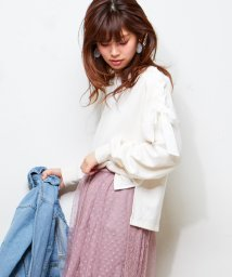 NICE CLAUP OUTLET/【natural couture】肩レースアップ裏毛/500925235
