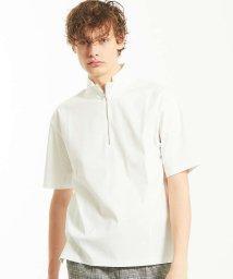 ABAHOUSE/シルケットスムースハーフジップTシャツ/500938885