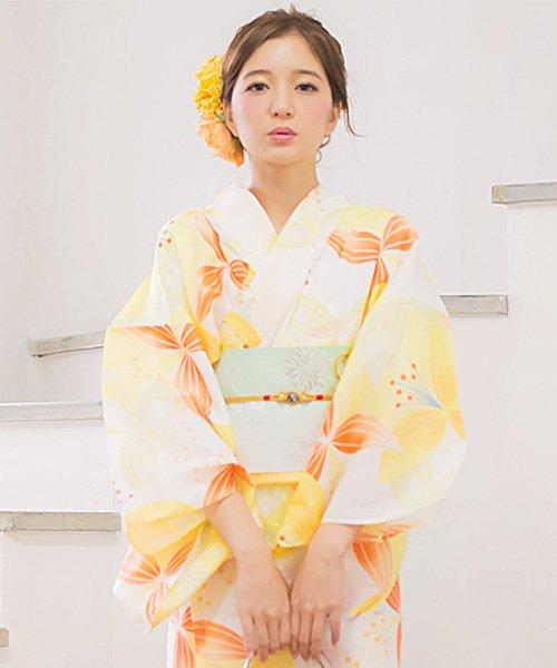 Dita(ディータ)/Dita【ディータ】1人で簡単に着られる作り帯の可愛い女性浴衣 4点フルセット(ゆかた・作り帯・下駄・着付けカタログ)/dl-2013yukata4