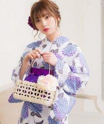Dita/Dita【ディータ】1人で簡単に着られる作り帯の可愛い女性浴衣 4点フルセット(ゆかた・作り帯・下駄・着付けカタログ)/500941490