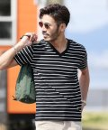 JIGGYS SHOP/マルチボーダーTシャツ & 7分袖Tシャツ / Tシャツ メンズ ボーダー vネック uネック/500942212