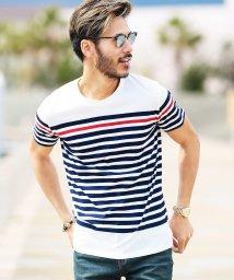 JIGGYS SHOP/マルチボーダーTシャツ & 7分袖Tシャツ / Tシャツ メンズ ボーダーTシャツ/500942212