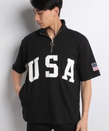 STYLEBLOCK/BIGハーフZIPスタンドTシャツ/500914061