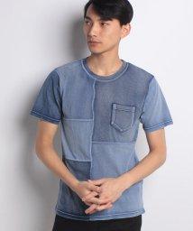 STYLEBLOCK/カットデニムクレイジー切り替えTシャツ/500914071
